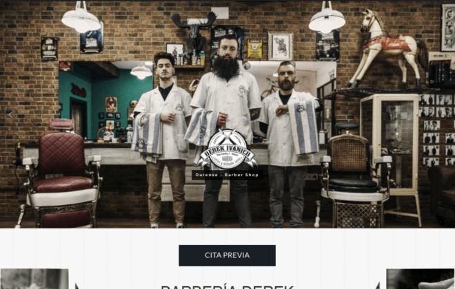 Desarrollo web Ourense barberia Derek Ivanich