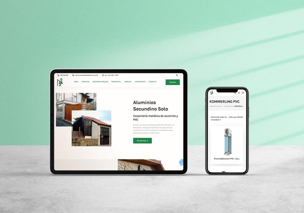 pagina web para empresa aluminios ourense